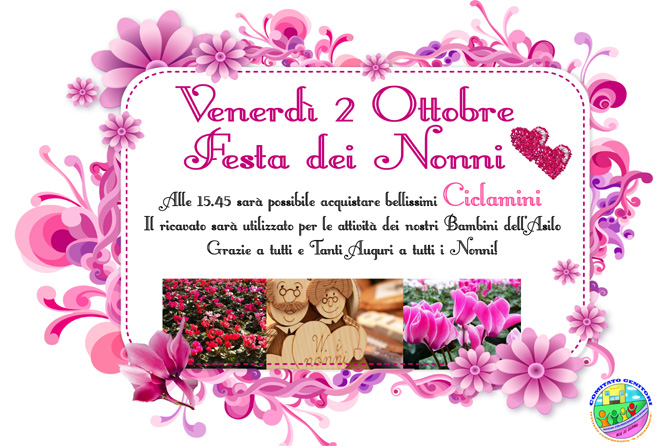Super 2 Ottobre Festa dei Nonni Infanzie - Comitato Genitori Copernico BB35