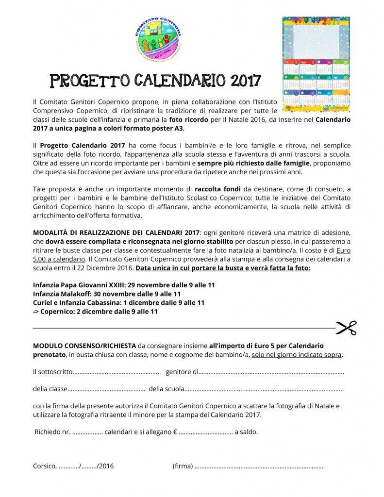 Calendario Significato.Progetto Calendario 2017 Comitato Genitori Copernico