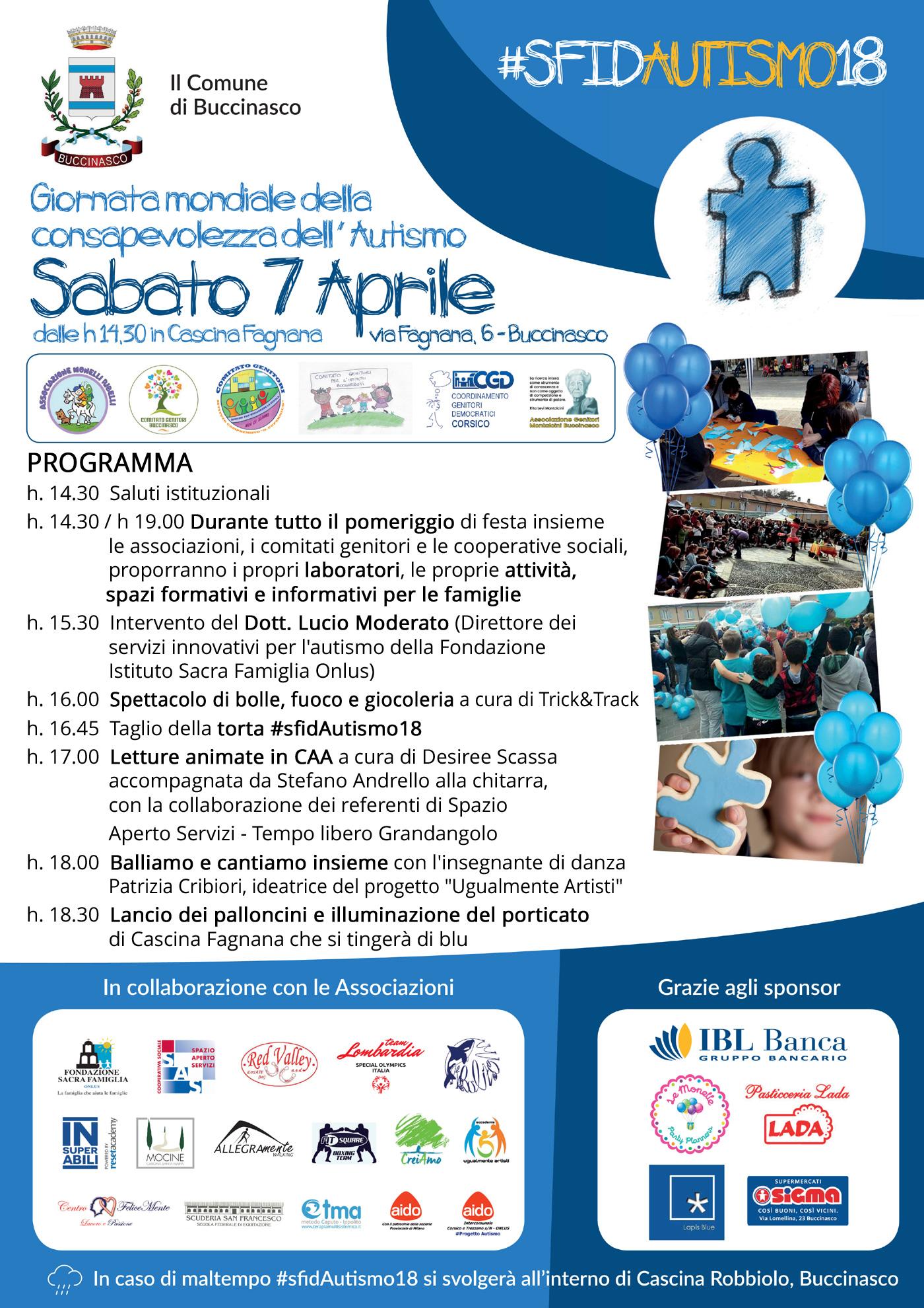 #sfidAutismo18 - Programma del pomeriggio